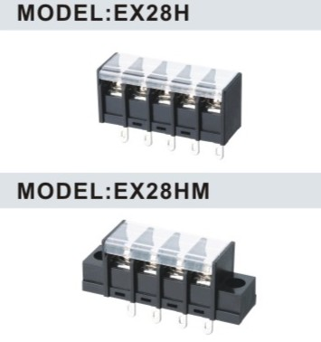 EX28H/EX28HM 7.62mm barrier strip terminal block