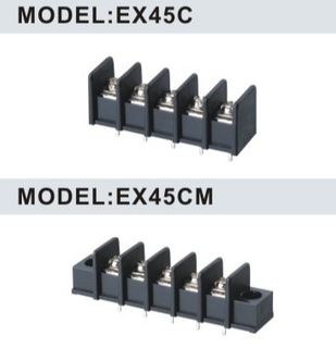 EX45C/EX45CM 9.50mm Barrier Strip Terminal Block